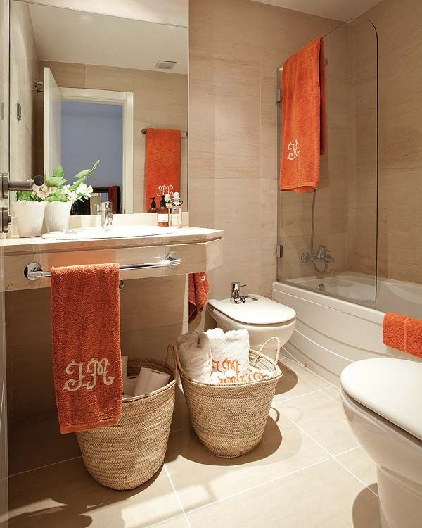 The 25 best orange bathrooms ideas on pinterest orange for What kind of paint to use on kitchen cabinets for red poppies canvas wall art