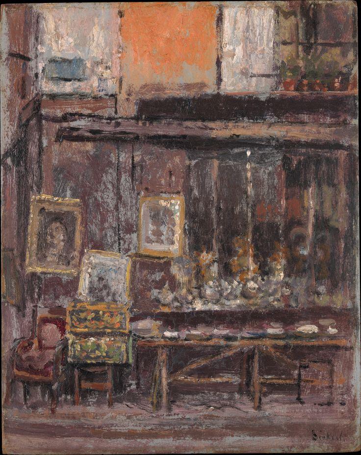 The Antique Shop  Walter Richard Sickert (British, Munich 1860–1942 Bathampton, Somerset)  finding good resolution images of Sickerts work is not easy - thanks Met
