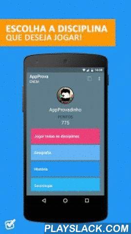 AppProva ENEM 2016  Android App - playslack.com ,  Conheça o novo aplicativo mobile do AppProva! Trabalhamos muito para trazer uma nova versão em 2016, completamente redesenhada e muito mais estável! Estude para o ENEM 2016 e demais vestibulares do Brasil, e teste seus conhecimentos de maneira simples e divertida!Confira as novidades da versão 3.0:- Versão completamente redesenhada: muito mais divertido e fácil de usar!- Maior estabilidade: correção de bugs.- Criação de usuários facilitada…
