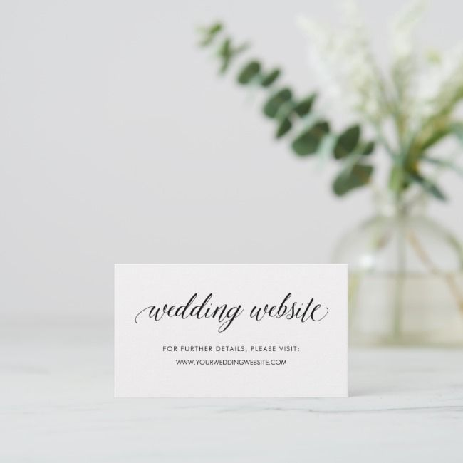 Simple Modern Typography Wedding Website Insert in 2018 Bridal