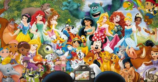 Foto personajes de Disney