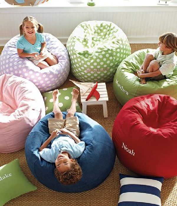 Cute Beanbag For Kids Playroom Design