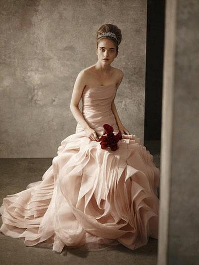 vera wang blush dress 2012