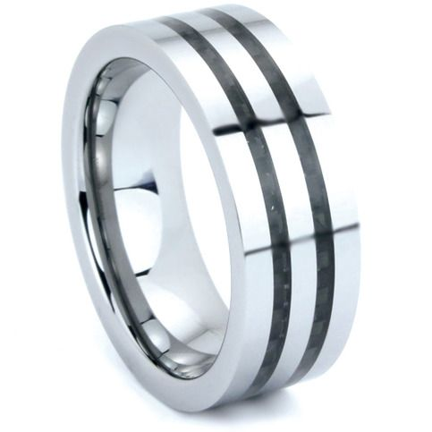 MSRP: $259.99 Our Price: $69.99 Savings: $190.00   Item Number: WRTG0073  Availability: Usually Ships in 5 Business Days   PRODUCT DESCRIPTION:  Crafted in Tungsten, this handsome wedding band for him features a flat design with Double Carbon Fiber Inlay and polished finish. Tungsten ...