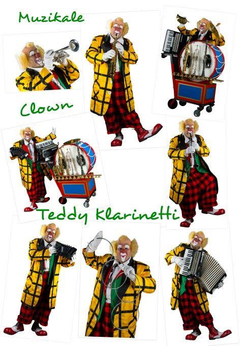 Muzikale Clown Teddy Klarinetti speelt kindershows met goochelen , instrumenten en ballonnen. Http://www.funenpartymatch.nl/teddyklarinetti.php