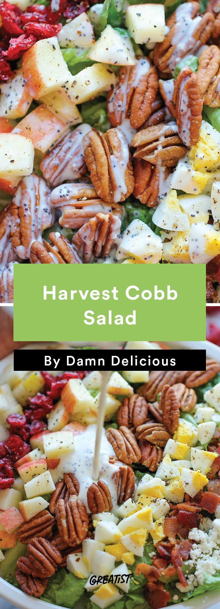 4. Harvest Cobb Salad #healthy #salads #fall http://greatist.com/eat/healthy-fall-salad-recipes