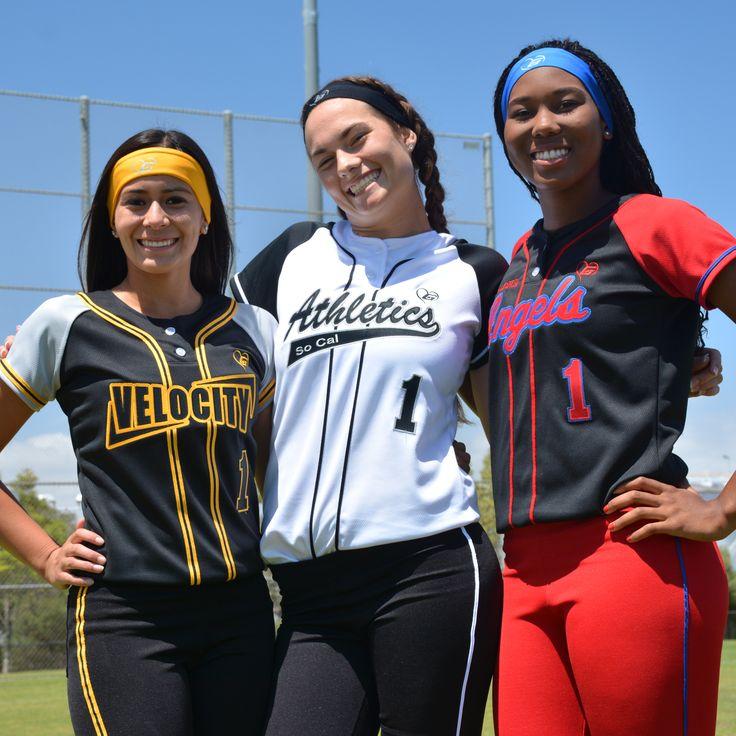 new arrivals df776 551eb Custom Girls Softball Uniforms...#softball #custom ...