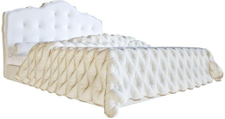 Великолепная двуспальная кровать белого цвета изготовлена в стиле современного арт-деко. Высокое фигурное изголовье, обитое экокожей, украшено стежкой капитоне. Изящество линий и форм, изысканный дизайн и эффектный цвет делают эту модель неотразимой. Она смотрится одновременно уютно и элегантно, создавая в вашей спальне умиротворяющую атмосферу тишины и покоя.             Материал: Ткань, МДФ, Кожа искусственная.              Бренд: DG Home.              Стили: Арт-деко.              Цвета…
