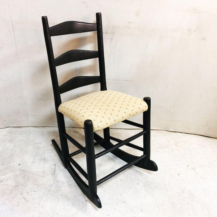 Black Antique Victorian Rocking Chair $75