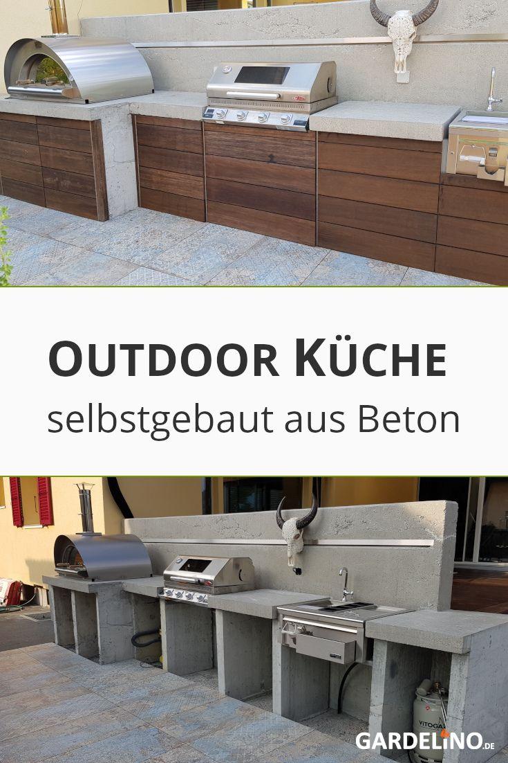 Selbstgebaute Outdoor Kuche Aus Beton In 2020 Outdoor Kuche Outdoor Kuche Selber Bauen Eingebauter Grill