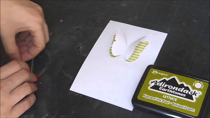 """Silhouette Caméo - Découpe partielle - """"Carte Papillon"""""""