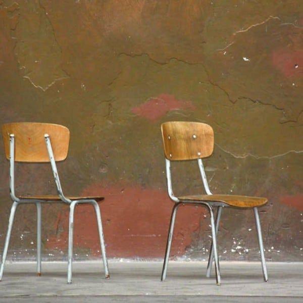 Vintage Fabrikstühle/ Industriestühle