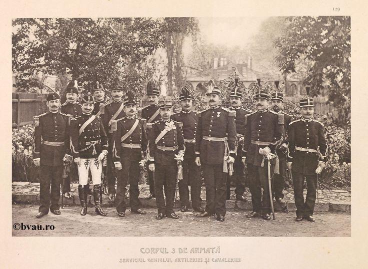 """Corpul 3 de Armată, Serviciul Geniului, Artileriei și Cavaleriei, 1902, Romania. Ilustrație din colecțiile Bibliotecii Județene """"V.A. Urechia"""" Galați. http://stone.bvau.ro:8282/greenstone/cgi-bin/library.cgi?e=d-01000-00---off-0fotograf--00-1----0-10-0---0---0direct-10---4-------0-1l--11-en-50---20-about---00-3-1-00-0-0-11-1-0utfZz-8-00&a=d&c=fotograf&cl=CL1.26&d=J131_697980"""