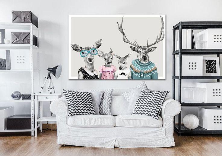 Obraz na płótnie 120x80 cm - RODZINKA 2+2:) - LUdesign-gallery - Ozdoby na ścianę