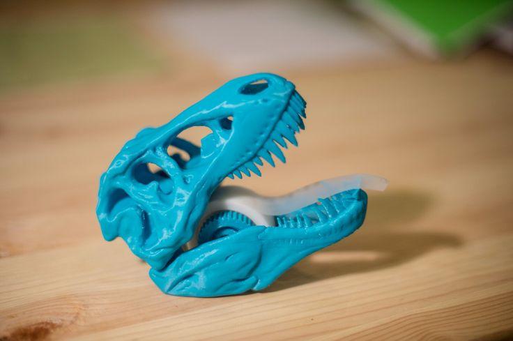 T-rex 3D printed Tape Dispenser, Coolest birthday Gift, Jurassic Park, Dinosaur Tape Dispenser,  T-rex, Tyrannosaurus Rex, Rexy by PrintAworldService on Etsy https://www.etsy.com/listing/245905580/t-rex-3d-printed-tape-dispenser-coolest