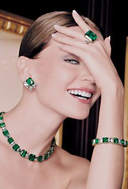 GLAM. Emeralds and Diamonds. #girlsbestfriend