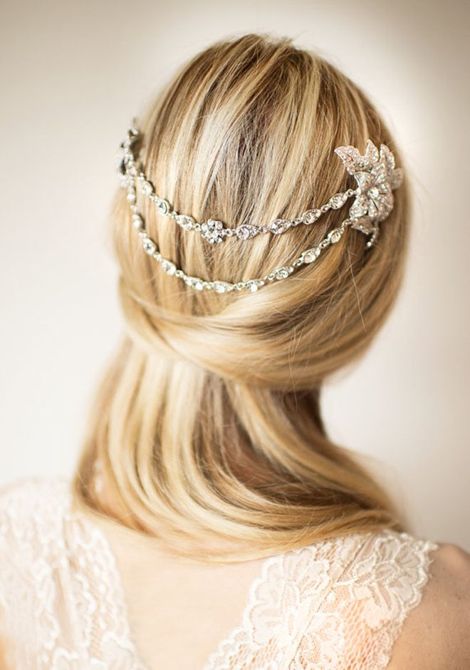 Best Wedding Hair Tips For Wearing Straight Styles Bridal Jewelry Accessories Pinterest Hairstyles And