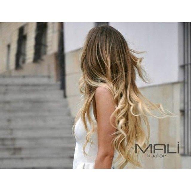 Saçlarınızdaki renk geçişlerinizi kusursuz hale getirmek için Mali Kuaför'ü ziyaret edin. #ombre #hair #baleyaj #malikuafor