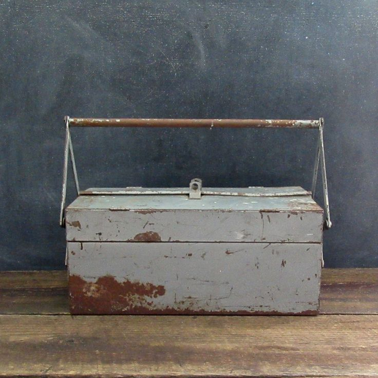 Vintage Tool Box, DWC Cantilever Tool Box, Organizer, Storage, Vintage Industrial Storage, Craft Storage, Tool Storage, Art Supply