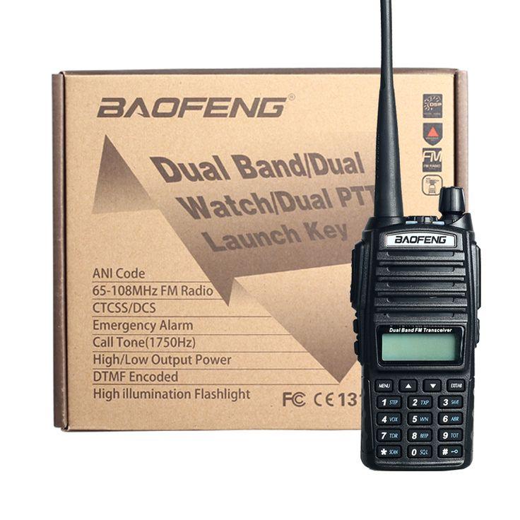 Portable Radio BaoFeng UV-82 5W 10KM Walkie Talkie amateur radio,Pofung handie talkie uv 82 ham radio free Double PTT headset