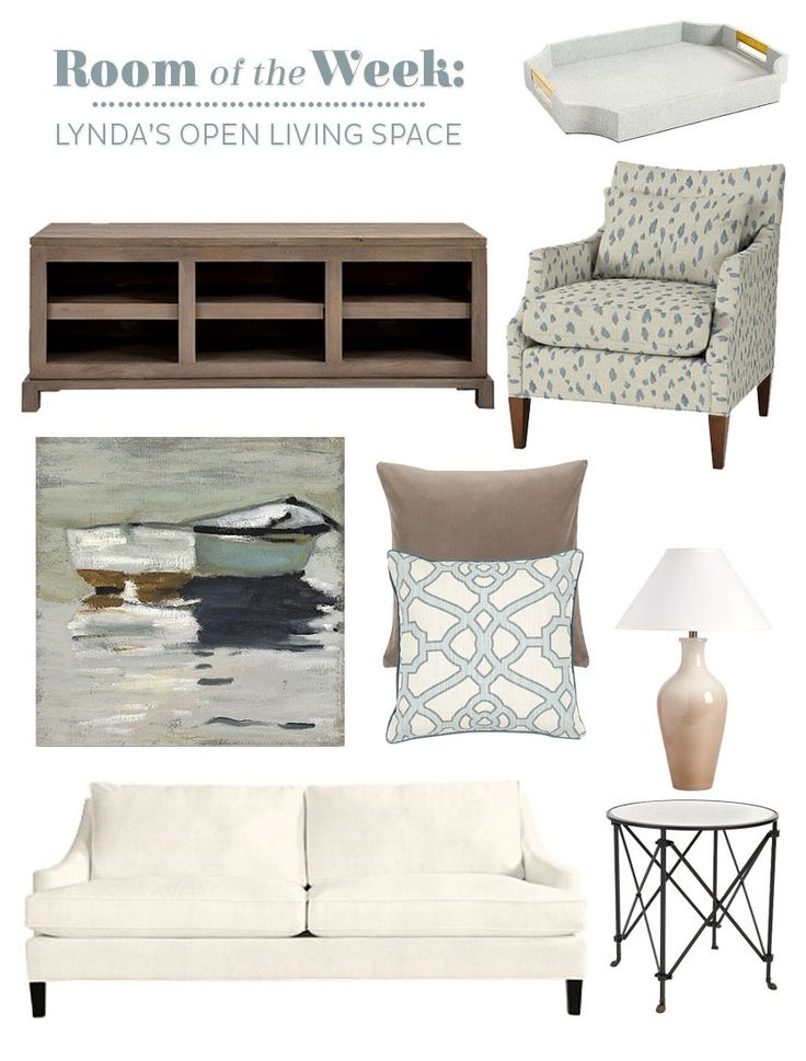 We're helping Lynda layout her large, open floor plan room to accommodate her husband's 70 inch television screen.