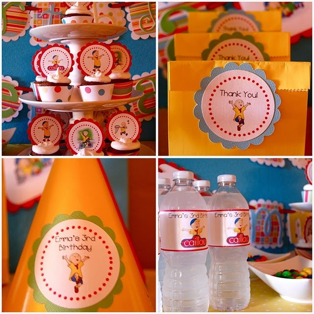 caillou birthday party ideas | caillou personalized caillou themed party ideas dinosaur