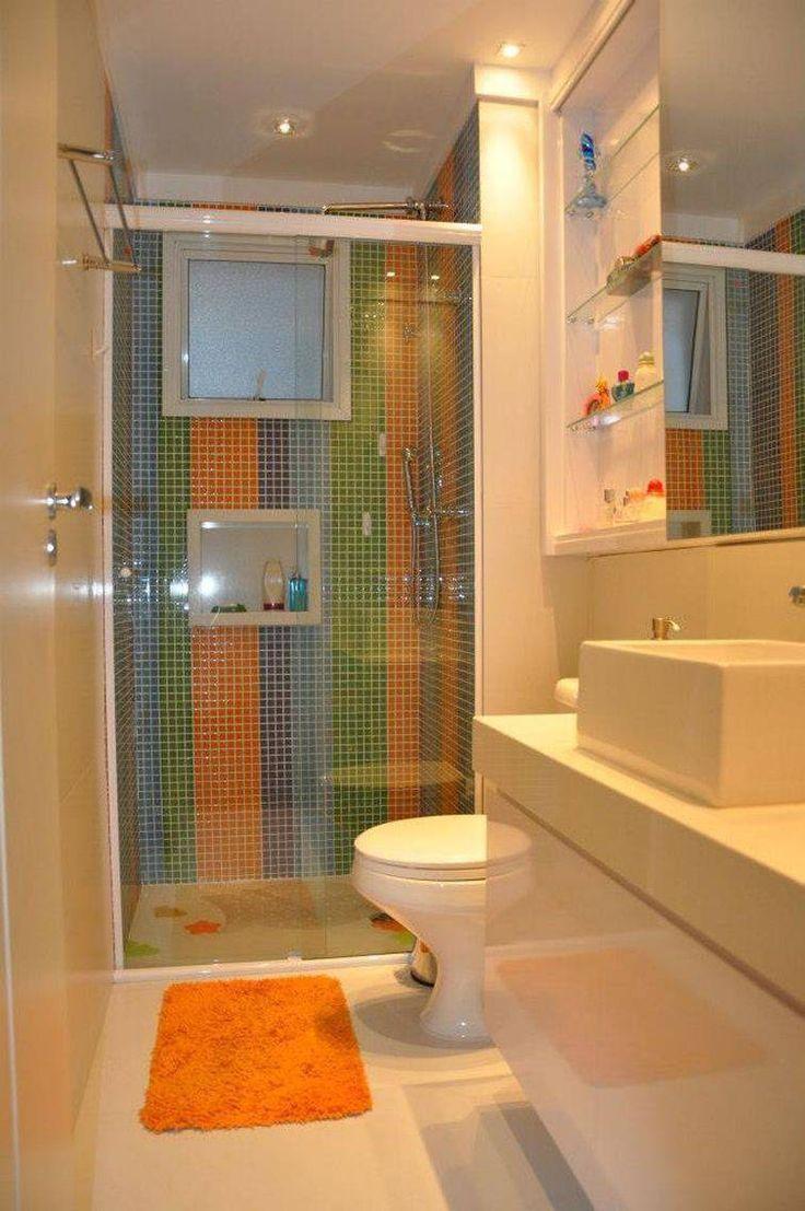 35 banheiros pequenos com dicas e inspira es para voc for Ver modelos de banos pequenos