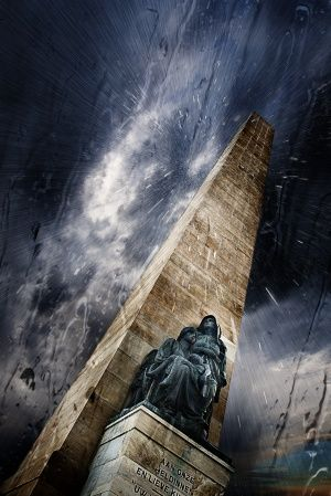 Women's Memorial Under Rainy Sky - 1st prize photo - Wiki Loves Monuments South Africa 2014