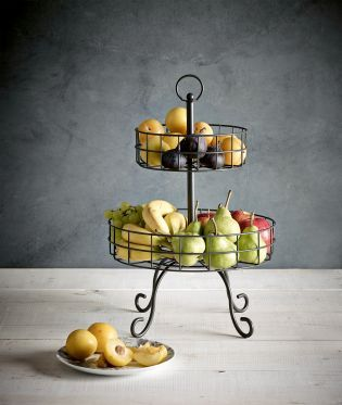 Buy Two Tier Wire Fruit Bowl from the Next UK online shop