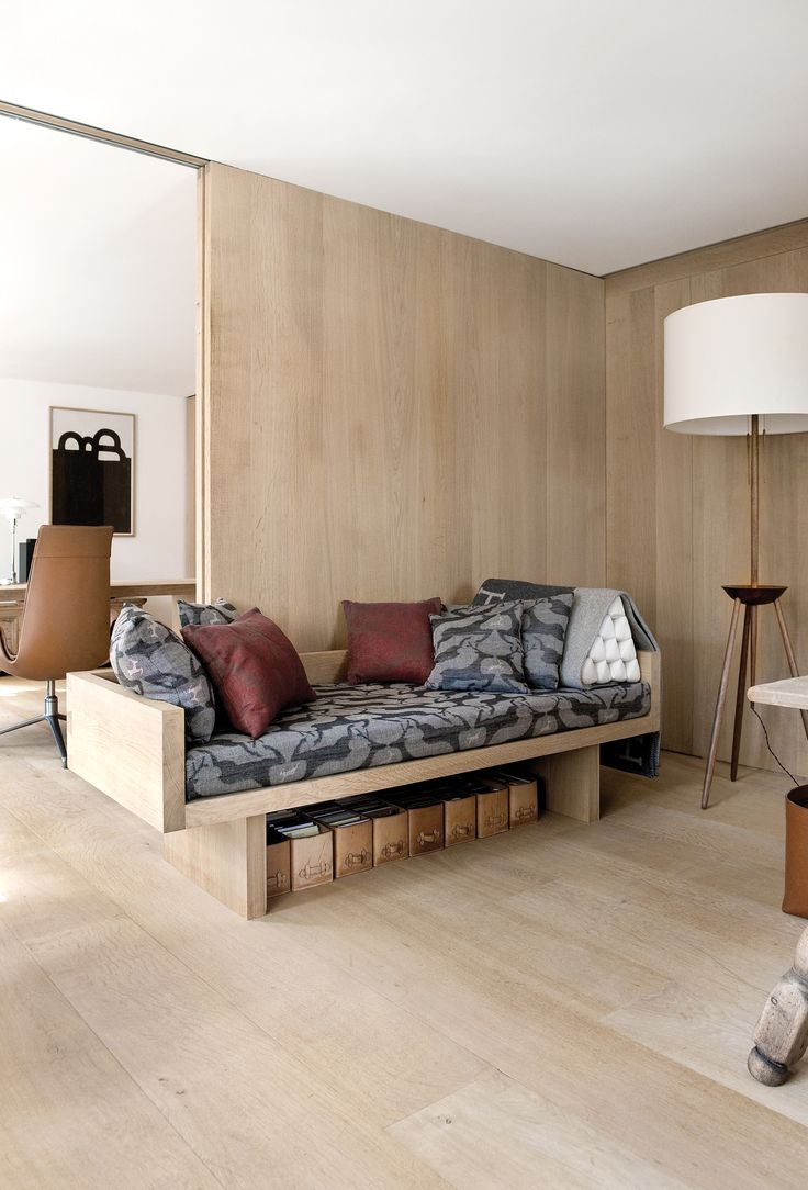 Dinesen Oak used for flooring and wall cladding in a private home in Switzerland.