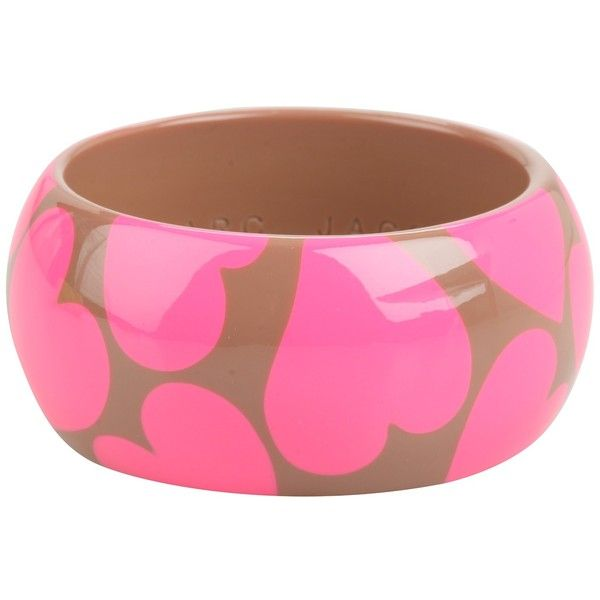 Marc by Marc Jacobs Heartbeats Bangle ❤Heart Prints, Jacobs Heartbeat, Marc Jacobs, Heartbeat Bangles, Pink, Jewelry, Accessories, Jacobs Bangles, Arm Candies
