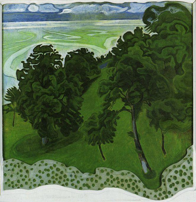 Jens Ferdinand Willumsen (1863-1958) Châtaigniers, 1891, huile sur toile et sur bois (96 x 95.5 cm), Musée J.F. Willumsen, Frederikssund