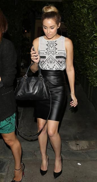 A Black Leather Skirt is a Must. I have one, but it's too long :/