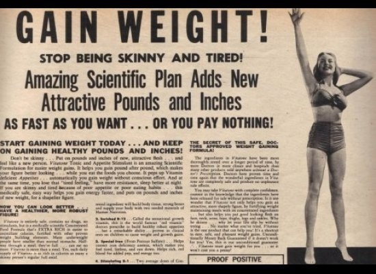 If only....: Gain Weights, Skin Care, Ads Campaigns, Women Health, Weights Gain, 1950, Vintage Ads, Weights Loss, Be Skinny