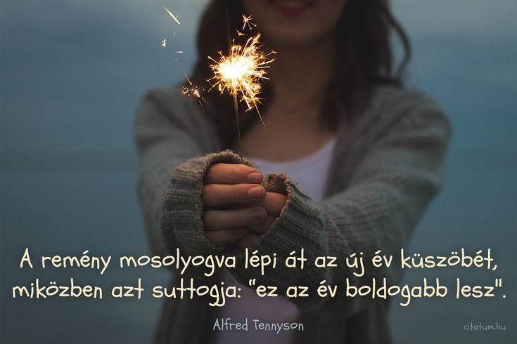Alfred Tennyson gondolata az új év reményeiről.