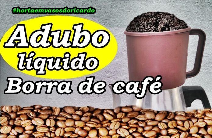 Aproveite a borra de café para fazer um excelente adubo líquido.  Receita bem simples e muito eficiente e barata de se fazer.  Turbine sua horta com este adubo que é incorporado bem rápido por estar em forma líquida