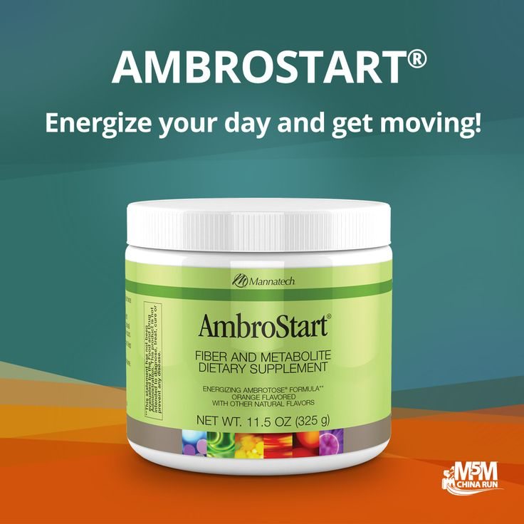 """The nutrients in AmbroStart drink mix are converted into energy. One of the main ingredients, fructose, is a carbohydrate that can energize you without the """"let-down feeling"""" typical of some sugar-laden products. Formulated to energize you, AmbroStart drink mix also furnishes three grams of soluble fiber per serving to help support a healthy digestive system."""
