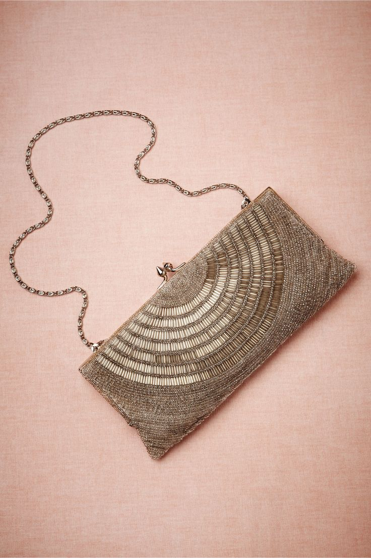 Deco Beaded Clutch in Shoes  Accessories Clutches  Gloves at BHLDN
