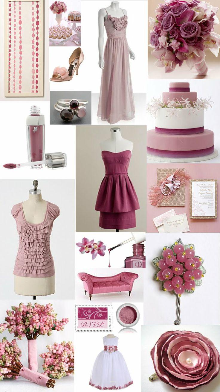 paper doll romance color day rose blush pink mauve. Black Bedroom Furniture Sets. Home Design Ideas