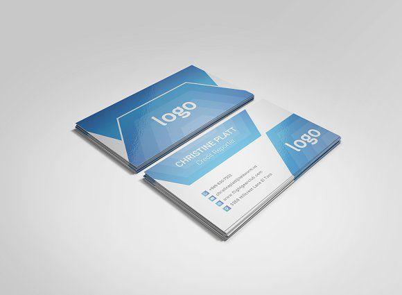 Blue Business Card Template Blue Business Card Business Card Template Design Business Card Template