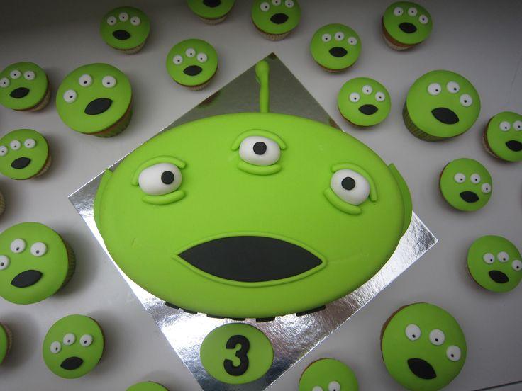 Alien / taart / cake / fondant / cupcakes