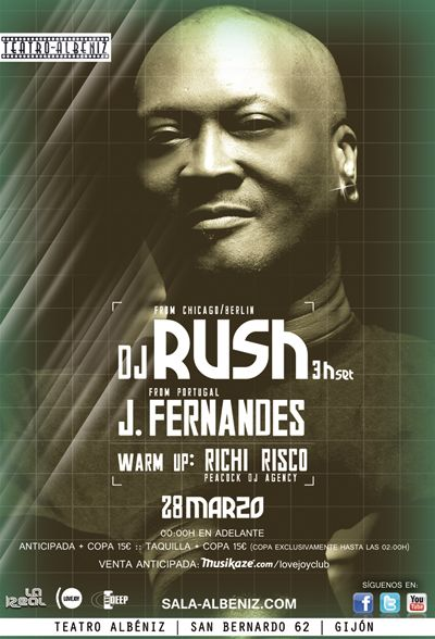 DJ RUSH + J FERNANDES 28 de Marzo de 2015 Teatro Albéniz Gijón, Asturias (ESPAÑA)