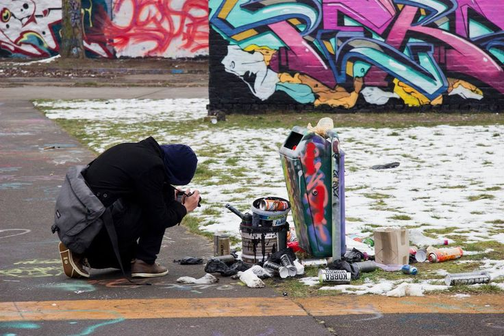 """Students film abandoned places in Berlin for the """"Space is the Place"""" video class."""