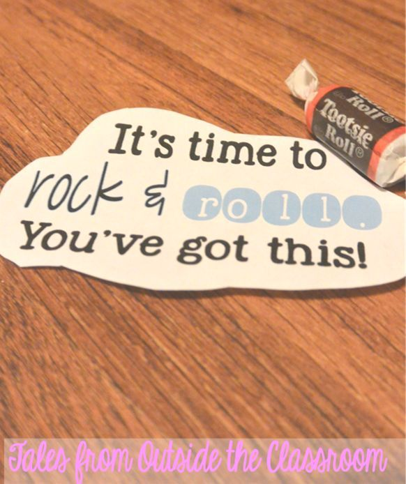 Use candy and fun tags to help motivate kids for testing.
