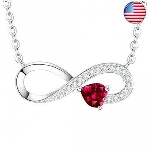 7fb33cceb eBay #Sponsored January Birthstone Garnet Sterling Silver Jewelry Gifts for  Women Valentines .
