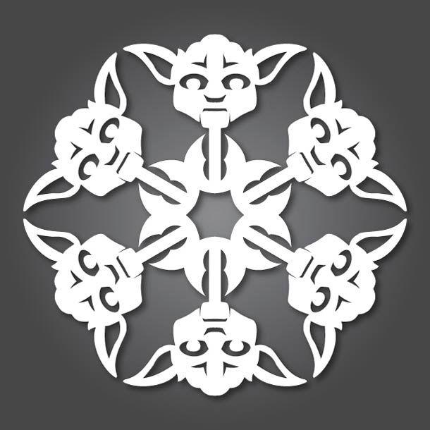 Star Wars Papercraft – Les Flocons Star Wars à découper