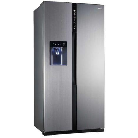 Réfrigérateur américain 90.5cm 530l a++ no frost inox