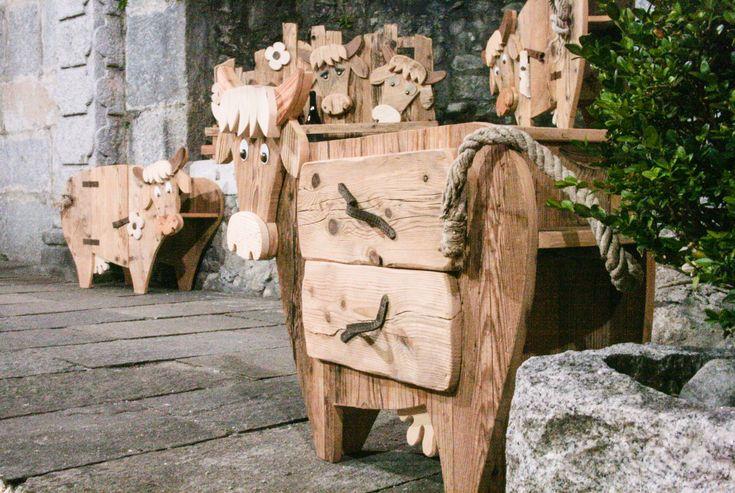 mucca, animaletti, legno, materiale di recupero, artigianato, cow, wood, mobile, mercatino