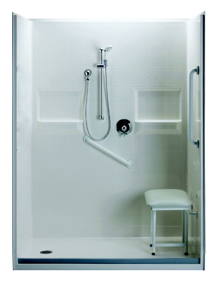Delightful 3 Piece Shower Stall, Which Has Inch Size