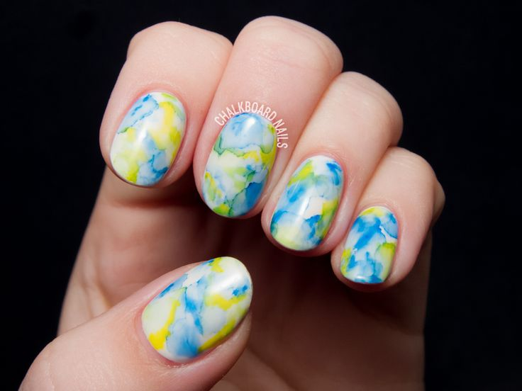 The Easiest Nail Art Ever: Sharpie Marbled Gel Nails